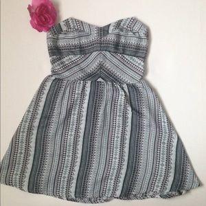 Aeropostale xs tribal print strapless dress